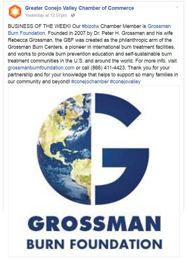 Grossman Burn Foundation in the Community